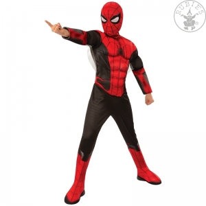 Strój Spider-Man FFH Red-Black Deluxe - Child